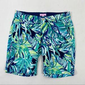 Lilly Pulitzer blue aqua tropical shorts. Size 2
